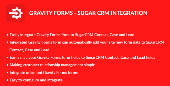 Gravity Forms - Sugar CRM Integration - CodeCanyon Item for Sale