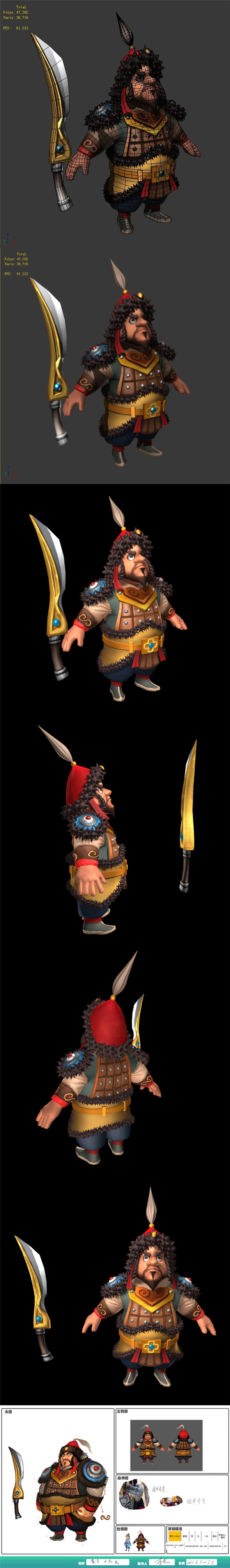 Game characters - Mongolian captain - 3DOcean Item for Sale