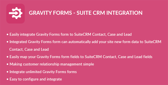 Gravity Forms - Suite CRM Integration - CodeCanyon Item for Sale