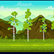 Forest and Stones 2D Game Landscape - GraphicRiver Item for Sale