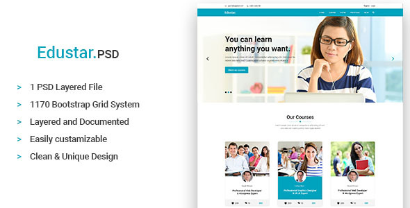Edustar - Education PSD Template - Miscellaneous PSD Templates
