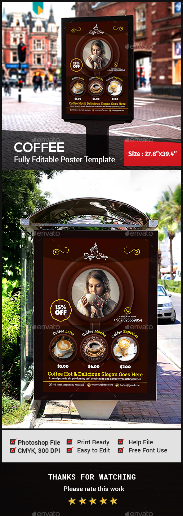 Coffee Poster - Signage Print Templates