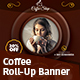 Coffee Roll-Up Banner - GraphicRiver Item for Sale