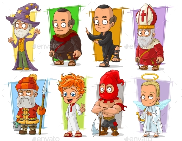 Cartoon Different Characters Vector Set - Miscellaneous Characters