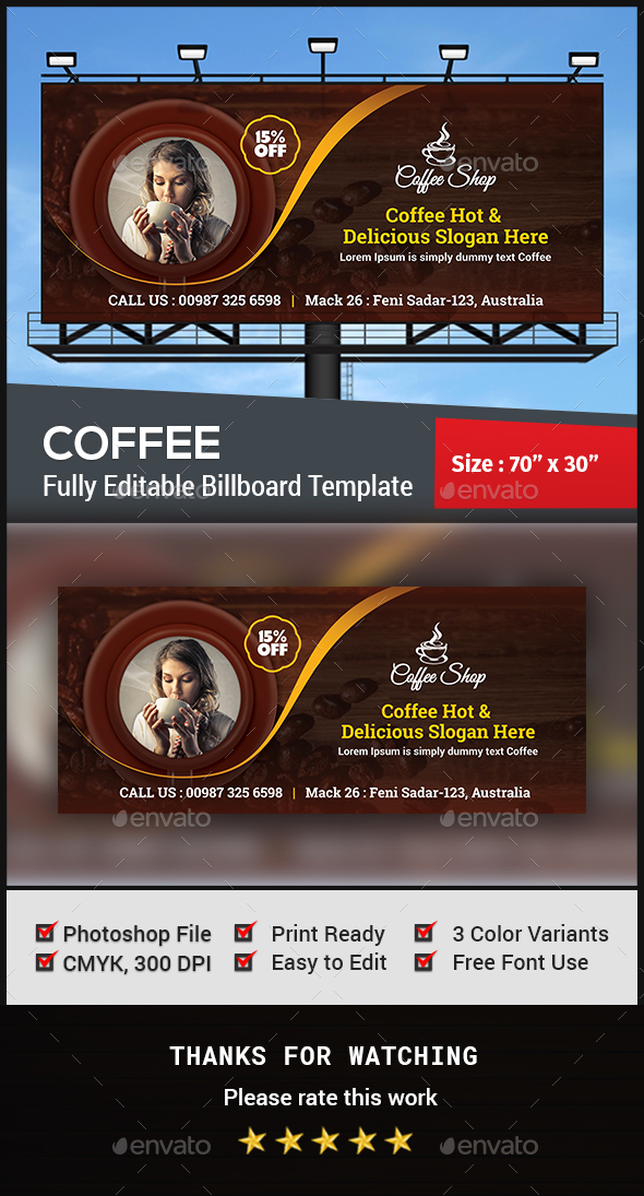 Coffee Billboard - Signage Print Templates