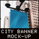 Vertical City Banner Mock-Up - GraphicRiver Item for Sale