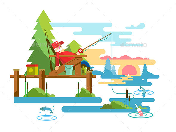 Rest Fishing Design - Sports/Activity Conceptual