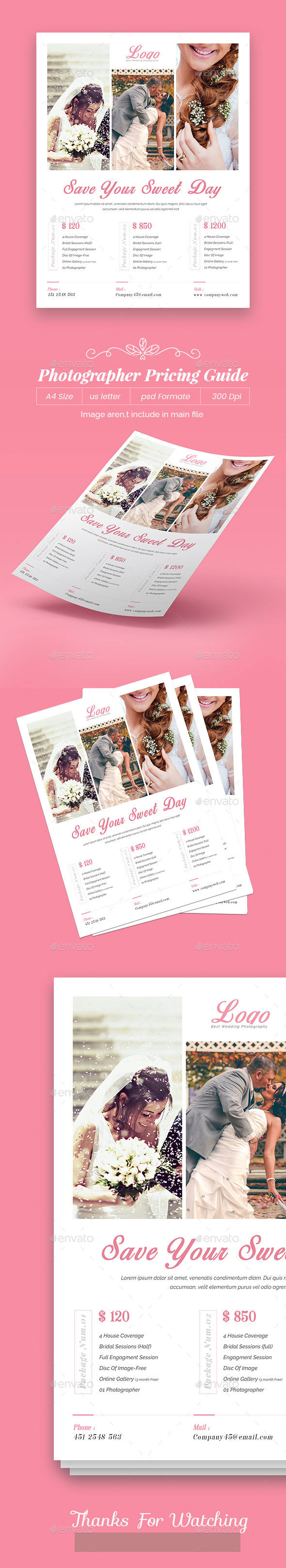 Photographer Pricing Guide - Flyers Print Templates