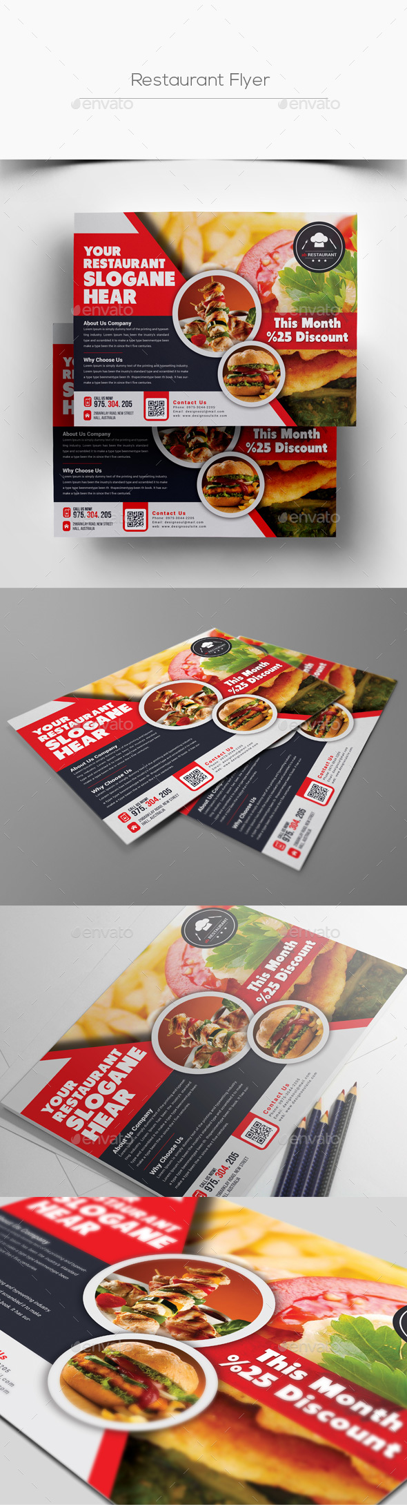 Horizontal Restaurant Flyer