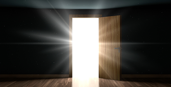 how to make a door open with light
