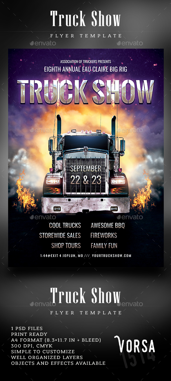 Truck Show Flyer Template - Events Flyers