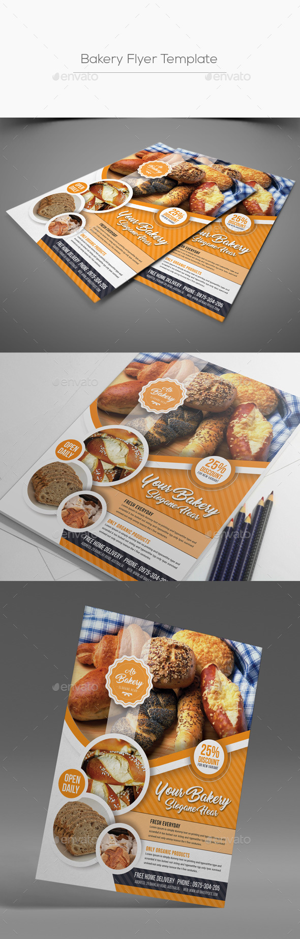 Cake Flyer Graphics Designs Templates From GraphicRiver - Bakery brochure template free