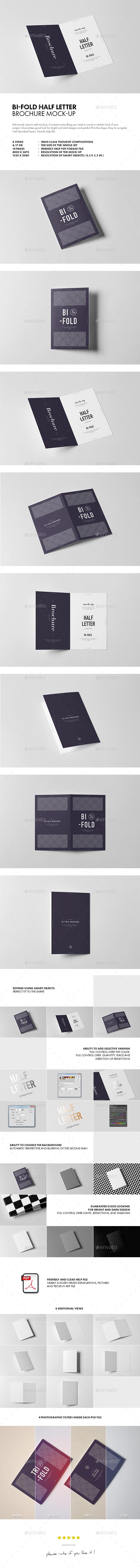 Bi-Fold Half Letter Brochure Mock-up - Brochures Print
