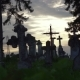 Old Stone Crosses in the Cemetery - VideoHive Item for Sale