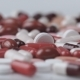 Red and White Pills Rotating on White Background - VideoHive Item for Sale