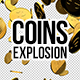 3D Gold Coins Explosion