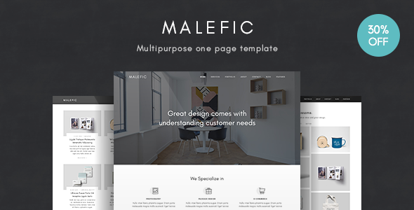 Malefic | One Page HTML5 Template