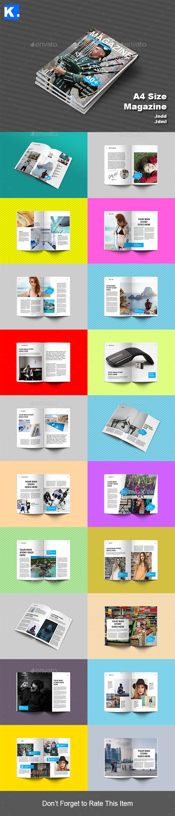 Indesign Magazine Template 1 - Magazines Print Templates