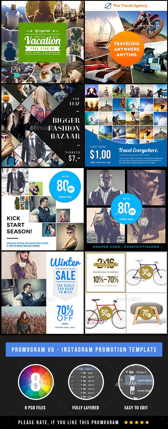 Promogram Vol.03 - Instagram Promotion Template - Social Media Web Elements