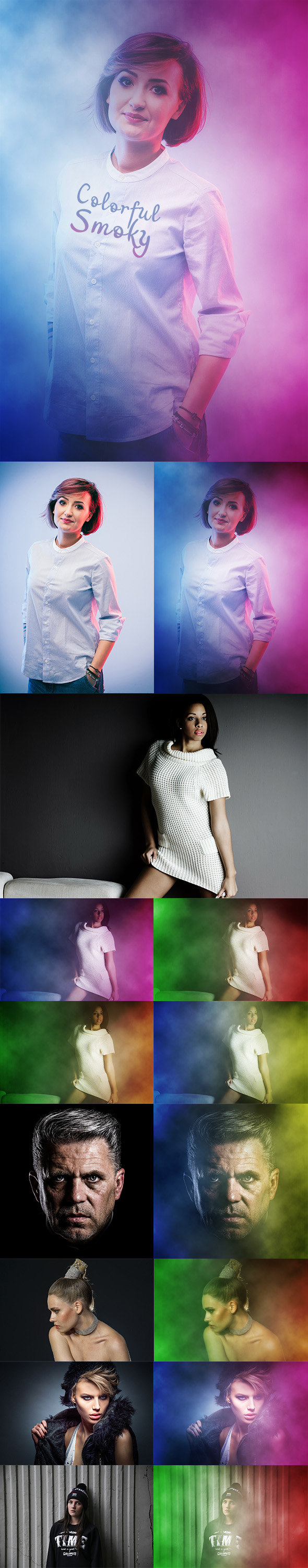 Colorful Smoky Action - Photo Effects Actions
