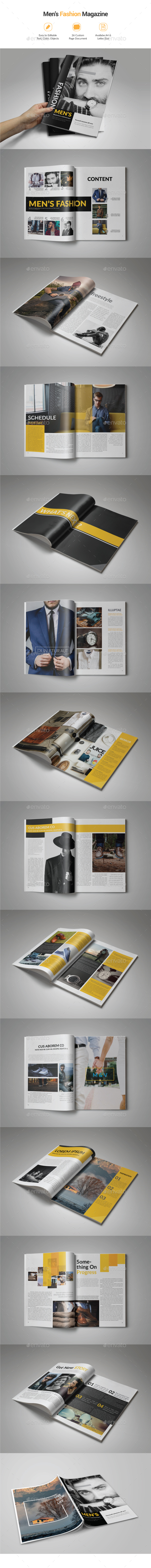 Men's Fashion Magazine - Magazines Print Templates