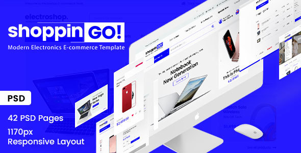 shoppinGO! - Electronics Modern E-Commerce PSD Template - Electronics Technology