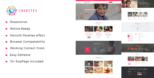 Image of Charitex | Charity Non-Profit HTML5 Template