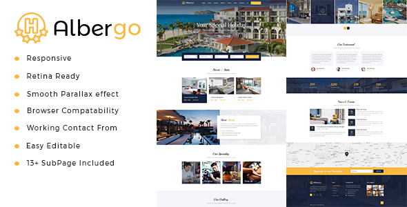 Albergo | Hotel and Resort HTML5 Template - Business Corporate