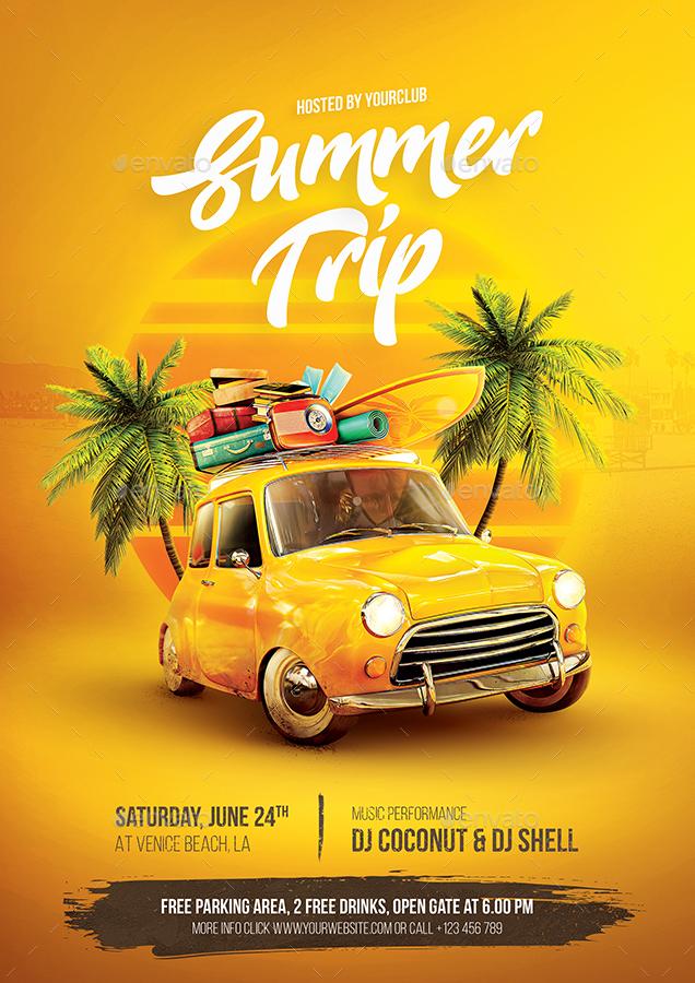 Summer Trip Flyer By Bornx
