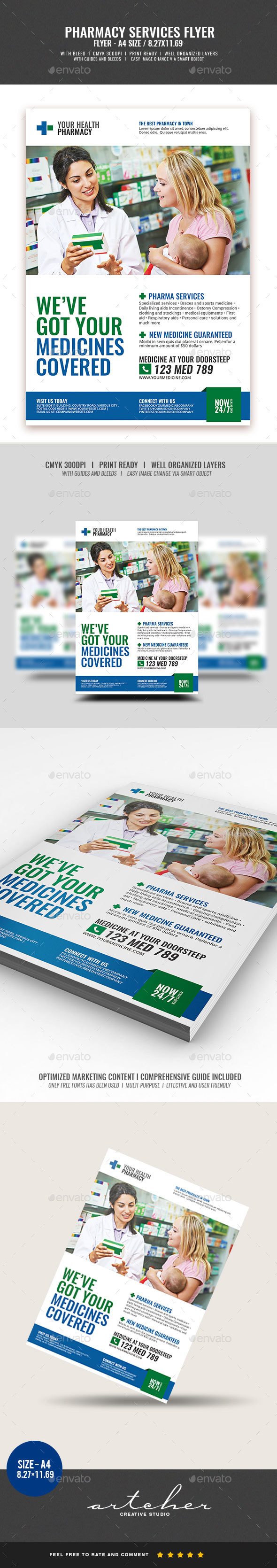 Pharmacy Services Flyer - Commerce Flyers