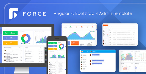 Force - Angular 4 Bootstrap 4 Admin Template