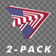Paper Airplane - USA Flag - Pack of 2 - VideoHive Item for Sale