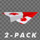 Paper Airplane - Canada Flag - Pack of 2 - VideoHive Item for Sale