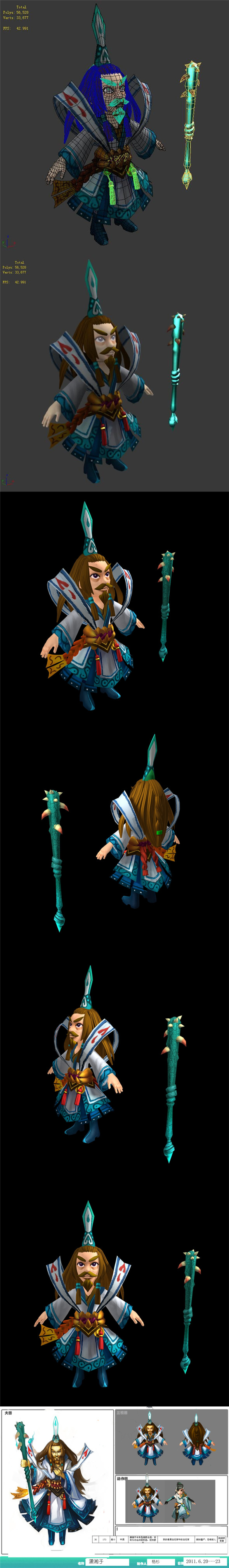 Game characters - Xiaoxiangzi - 3DOcean Item for Sale