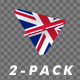 Paper Airplane - UK Flag - Pack of 2 - VideoHive Item for Sale