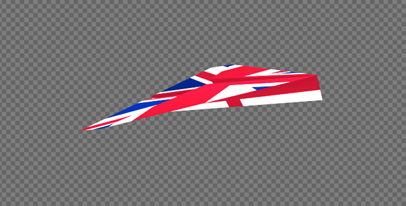 paper airplane uk flag pack of 2 by videomagus videohive