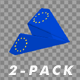 Paper Airplane - EU Flag - Pack of 2 - VideoHive Item for Sale