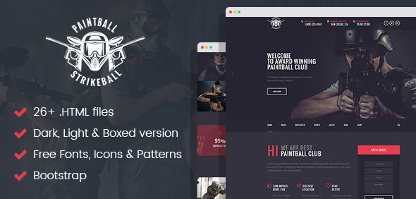 Paintball & Strikeball Club - Premium HTML5 Template - Corporate Site Templates