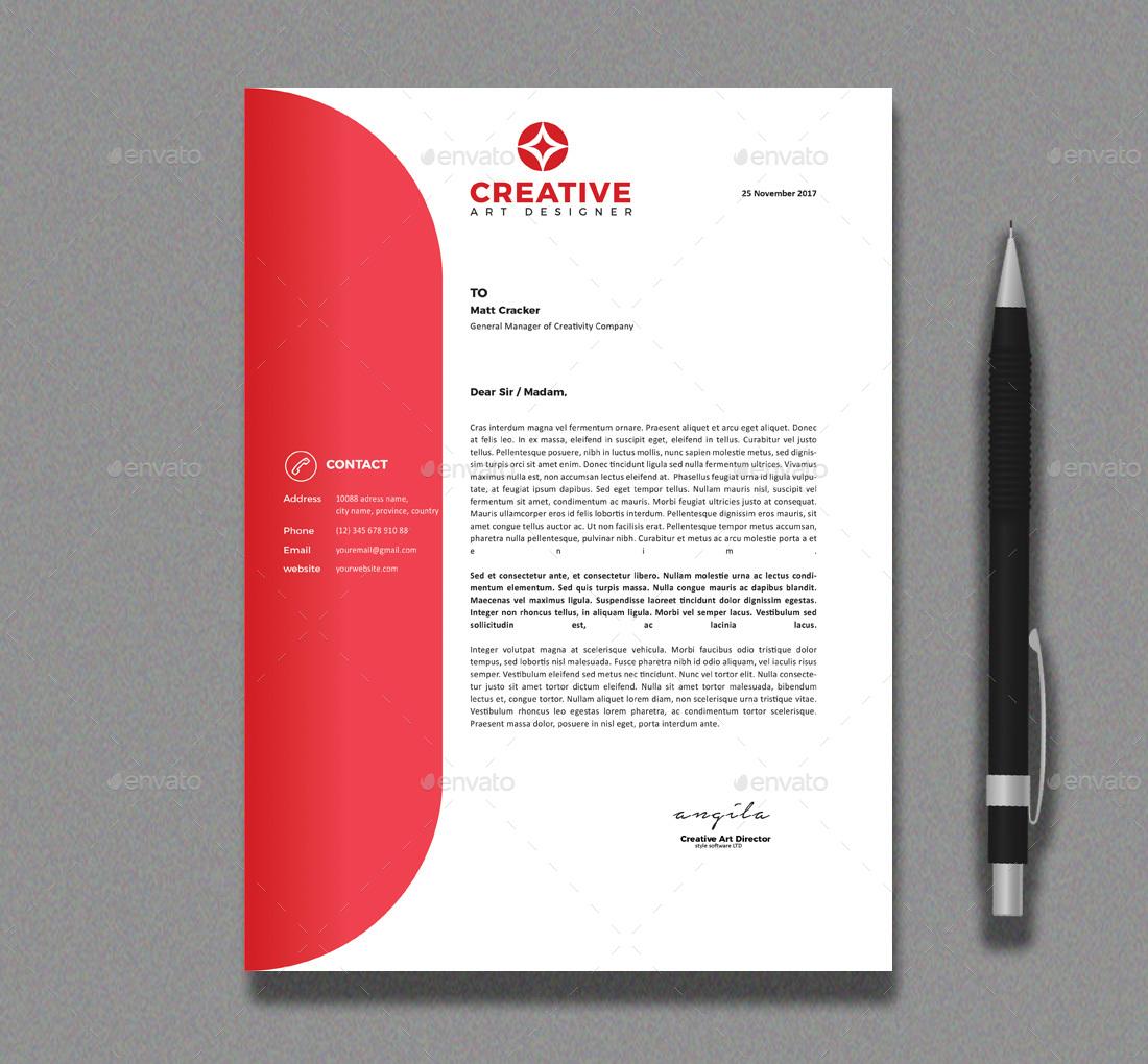10 unique letterhead template