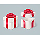 Open and Close Present Box. Vector - GraphicRiver Item for Sale