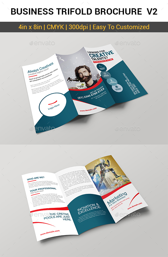 Business Trifold Brochure v2 - Brochures Print Templates