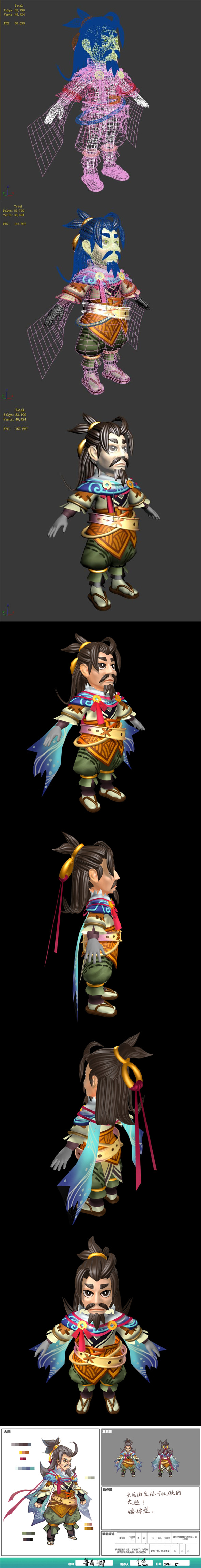 The characters of the game - new Lu has feet - 3DOcean Item for Sale