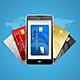 Concept of Phone Pay with Credit Plastic Card. Vector - GraphicRiver Item for Sale