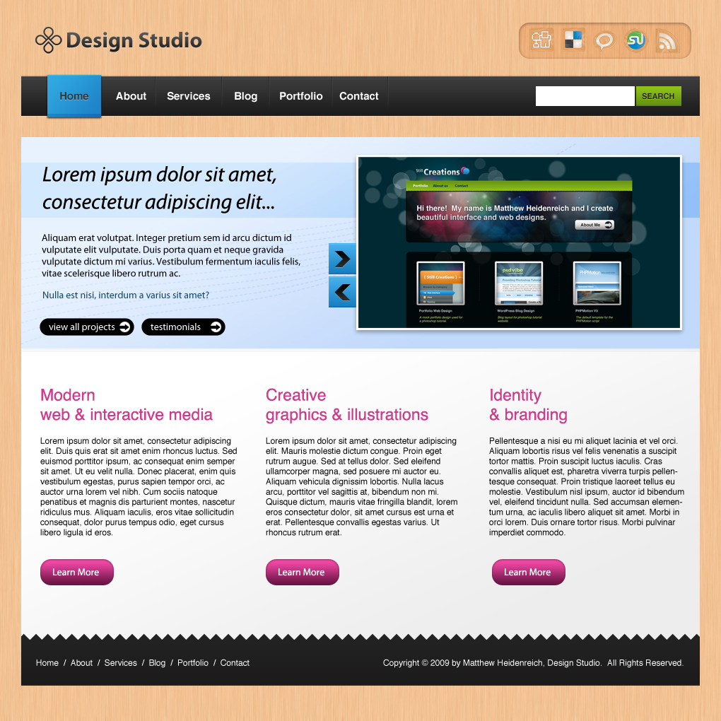 Free Download Business Style Portfolio Layout Nulled Latest Version