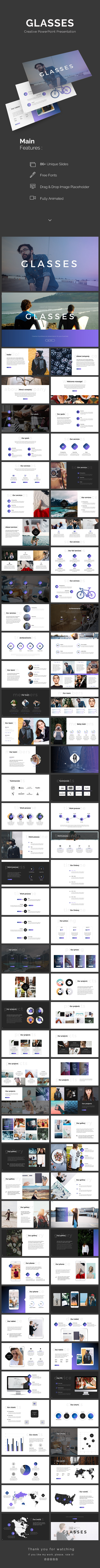 Glasses PowerPoint Template - PowerPoint Templates Presentation Templates