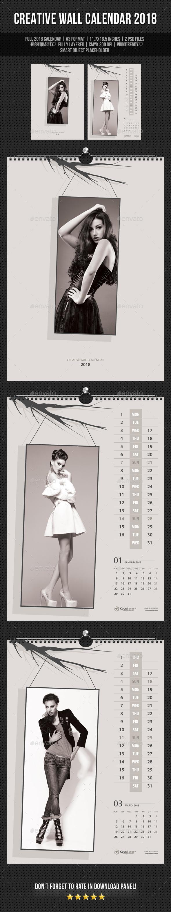 Creative Wall Calendar 2018 V17