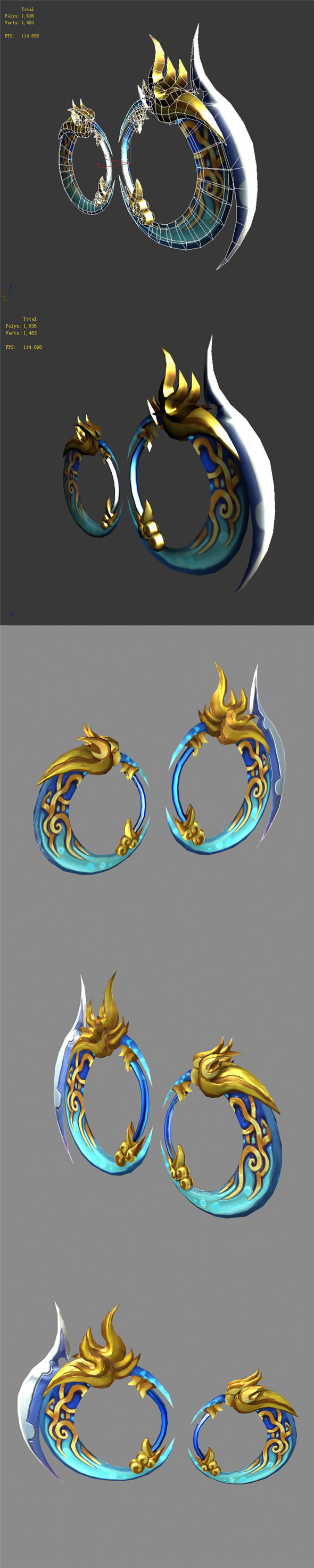 Game character weapon - heaven and earth circle - 3DOcean Item for Sale
