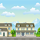 Classic Family Houses with Trees - GraphicRiver Item for Sale