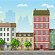 Seamless Cityscape Cartoon Background - GraphicRiver Item for Sale