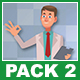 Male Doctor And Female Patient  Cartoon Characters Pack 2 - VideoHive Item for Sale